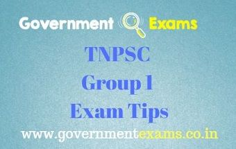 TNPSC Group 1 Exam Tips