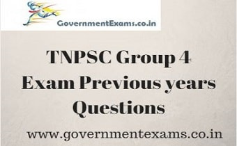 TNPSC Group 4 Question Papers | Previous year Questions with Answers