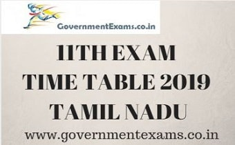 11TH EXAM TIME TABLE 2019 - Exam Schedule| subjects wise date