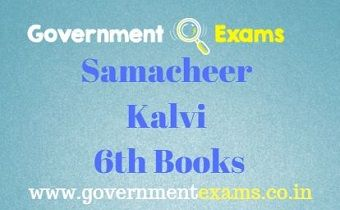 Books pdf samacheer 6th to kalvi 10th