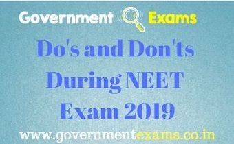 Do's and Dont's During NEET Exam 2019