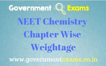 NEET Chemistry Chapter Wise Weightage