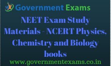 NEET Exam Study Materials | NCERT Physics, Chemistry & Biology books