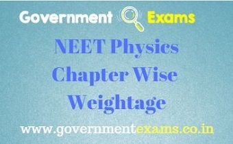 NEET Physics Chapter Wise Weightage