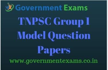 TNPSC Group 1 Model Question Papers