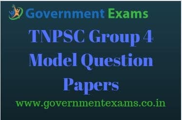 TNPSC Group 4 Model question papers