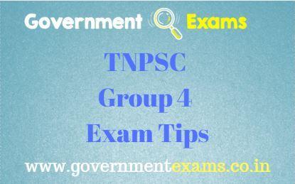 TNPSC Group 4 Exam Tips
