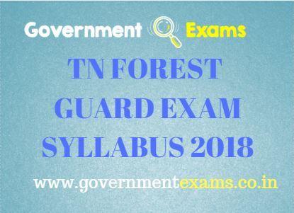 TN FOREST GUARD EXAM SYLLABUS 2018