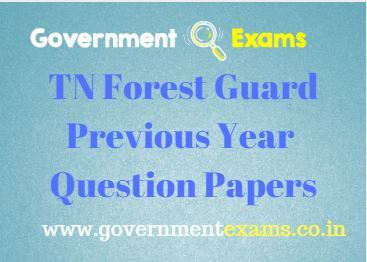 TN Forest Guard Previous Year Question Papers