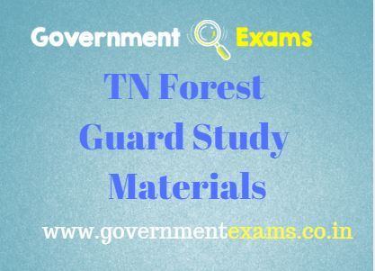 TN Forest Guard Study Materials PDF | Complete notes in PDF Free