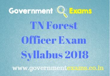 TN Forest Officer Exam Syllabus 2020