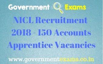 NICL Recruitment 2018 - 150 Accounts Apprentice Vacancies