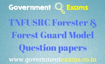 TNFUSRC Forester & Forest Guard Model Question papers