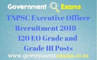 TNPSC Executive Officer Recruitment 2018