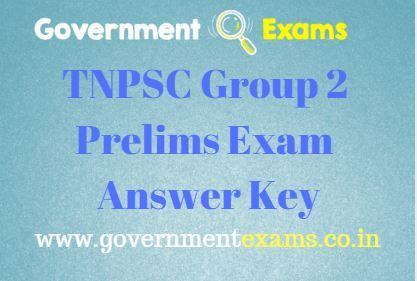 TNPSC Group 2 Prelims Exam Answer Key