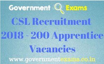 CSL Recruitment 2018