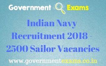 Indian Navy Recruitment 2018 - 2500 Sailor Vacancies
