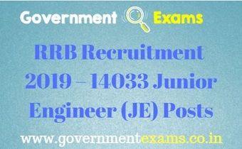 RRB Recruitment 2019