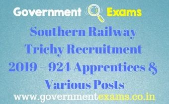 Southern Railway Trichy Recruitment 2019
