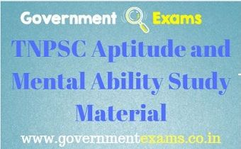 TNPSC Aptitude and Mental Ability Study Material