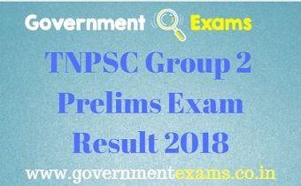 TNPSC Group 2 Prelims Result 2018