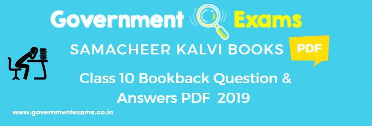 10th Book Back Question Answers | Important Question answers