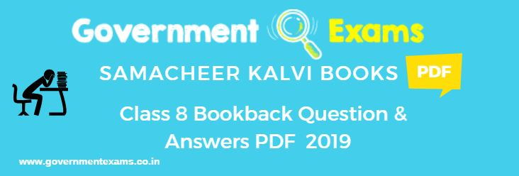 8th Book Back Questions and Answers | Term I, II, III Question and