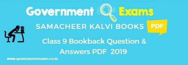 Samacheer Kalvi 9th Book Back Solutions