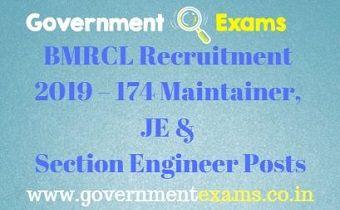 BMRCL Recruitment 2019
