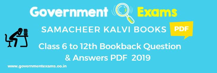 6th to 10th Book Back Questions and Answers