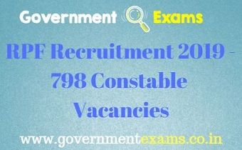 RPF Recruitment 2019 - 798 Constable Vacancies
