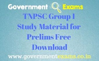 TNPSC Group 1 Study Material