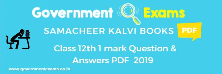 12th 1 Mark Questions and Answers