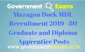Mazagon Dock MDL Recruitment 2019