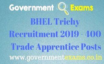 BHEL Trichy Recruitment 2019