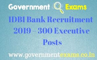 IDBI Bank Executive Recruitment 2019