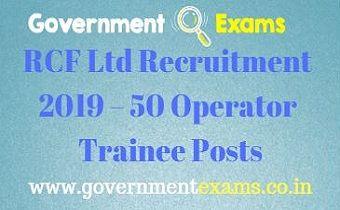 RCF Ltd Recruitment 2019