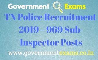 TN Police Recruitment 2019