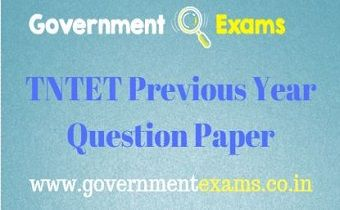 TNTET Previous Year Question Paper