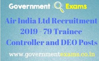 Air India Ltd Recruitment 2019
