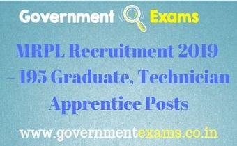 MRPL Recruitment 2019