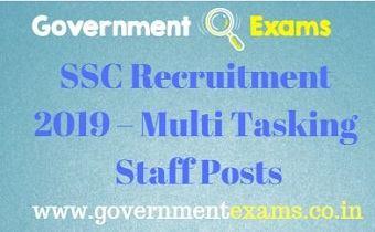 SSC Recruitment 2019