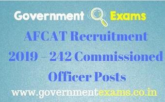 AFCAT Recruitment 2019