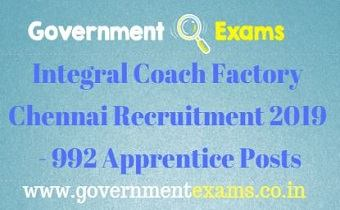 ICF Chennai Recruitment 2019