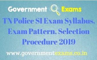 SI Exam Syllabus 2019
