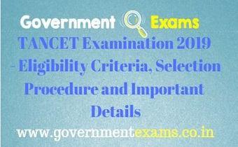 TANCET Examination 2019