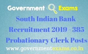 SIB Probationary Clerk Recruitment 2019