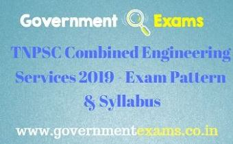 TNPSC Combined Engineering Services 2019 - Exam Pattern & Syllabus