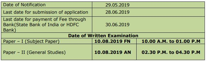 TNPSC Combined Engineering Services Exam Date and Time