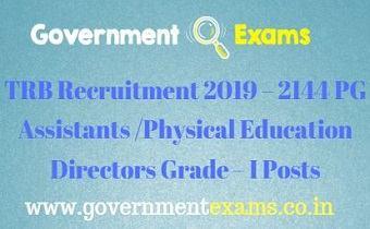 TRB Recruitment 2019